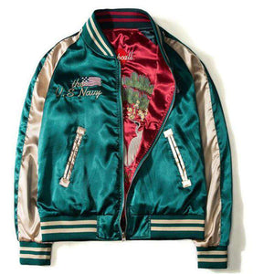 Two Sides Embroidery Bomber