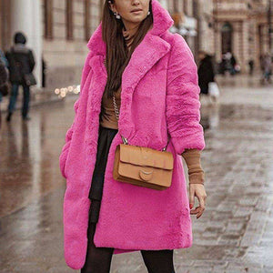 Pink Long Teddy Bear Jacket - HCWP