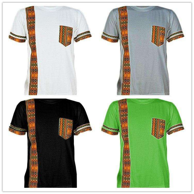 short sleeved african men clothing