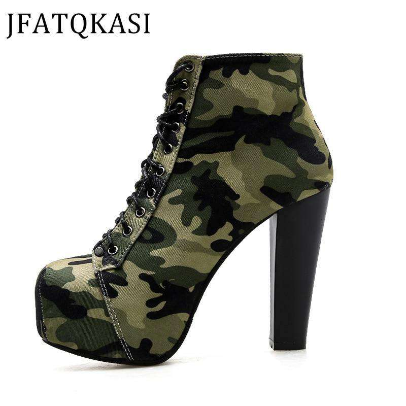 Winter Ankle Boots Camouflage