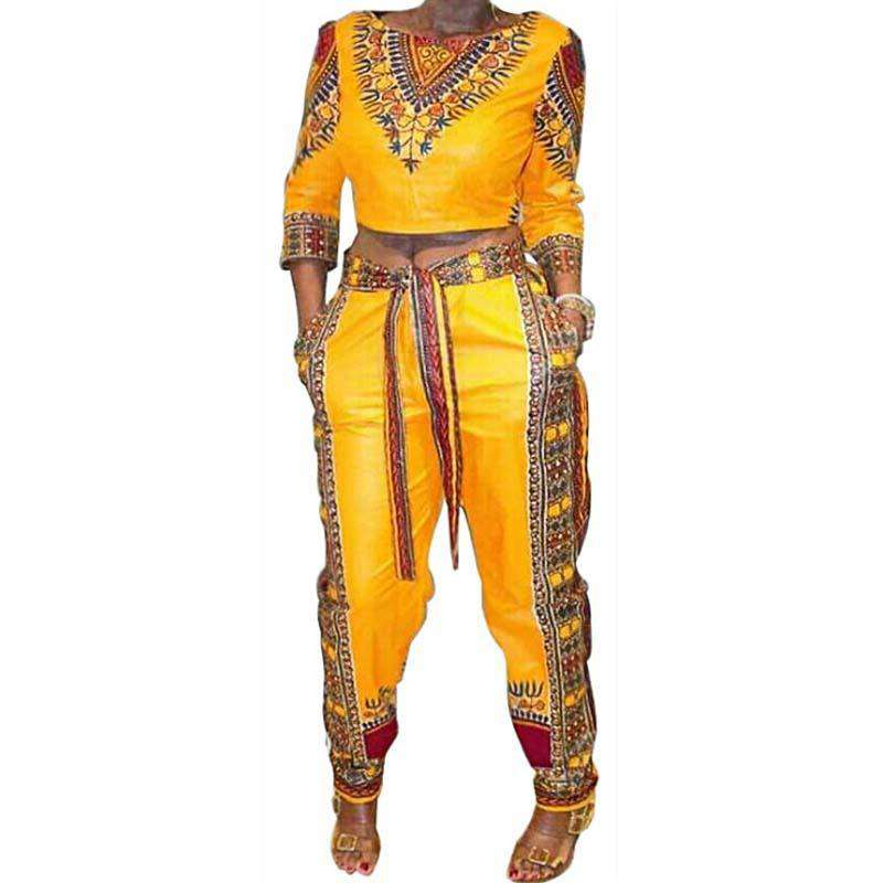 Yellow African-Style jumpsuit