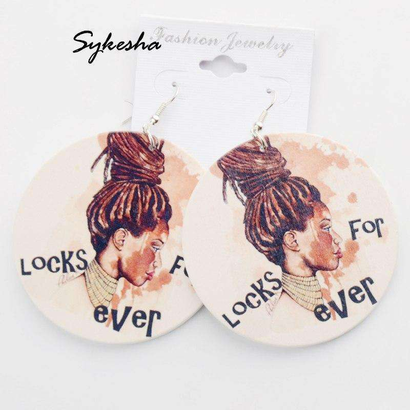 Black girl earrings - HCWP