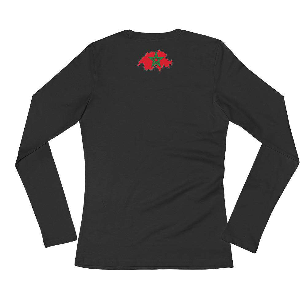 Swiss-Moroccan Ladies' Long Sleeve T-Shirt