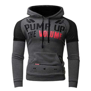 Winter Casual Slim Fit Letter Print Hoodie - HCWP