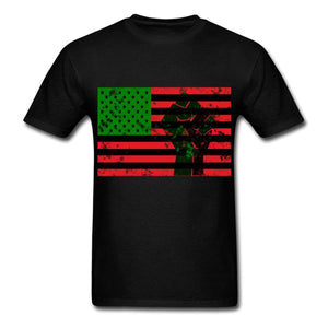 Pan African Flag With Fist Men's T-Shirt