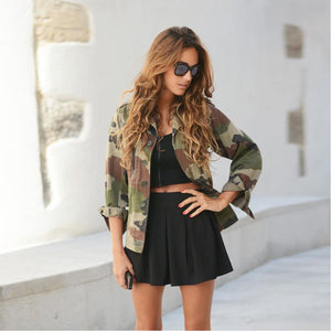 Women Camouflage Jacket Coat Autumn