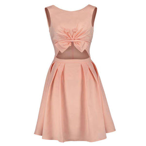 Salmon Cotton Skater Dress