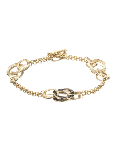 14ct Yellow Gold Diamond Bracelet