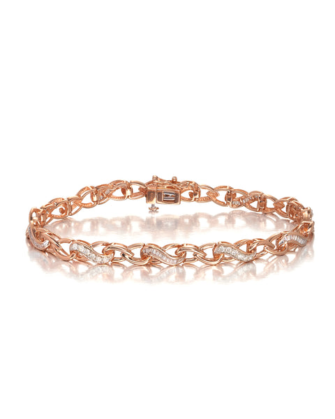 10ct Rose Gold Diamond Infiniti Bracelet