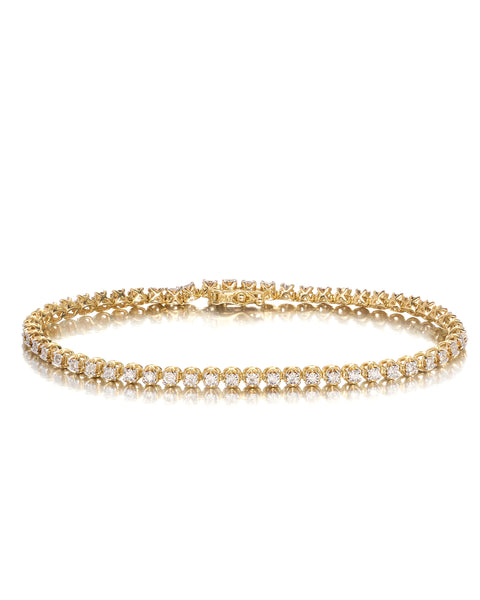 10ct Yellow Gold Diamond Bracelet
