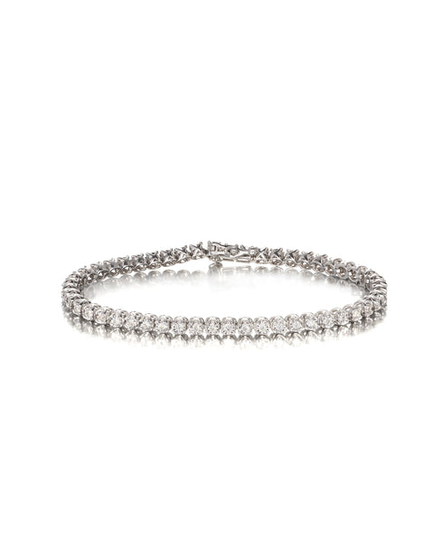 10ct White Gold Diamond Bracelet