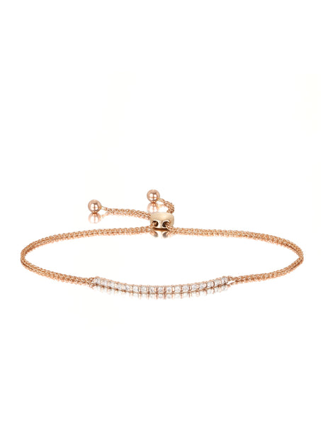 10ct Rose Gold Diamond Bracelet