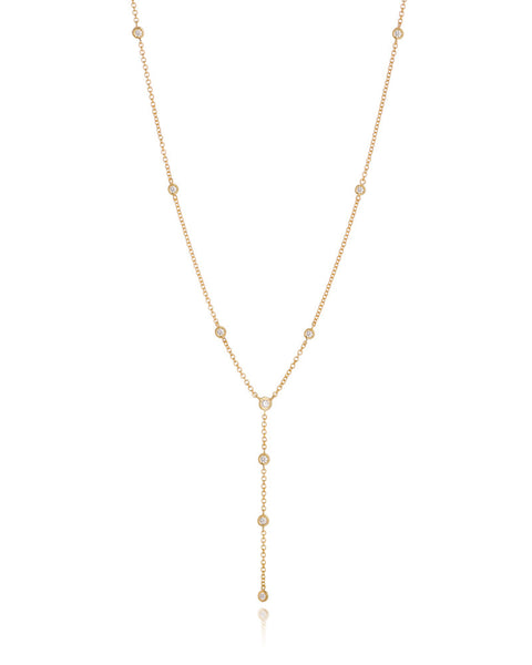 14ct Yellow Gold Diamond Necklet