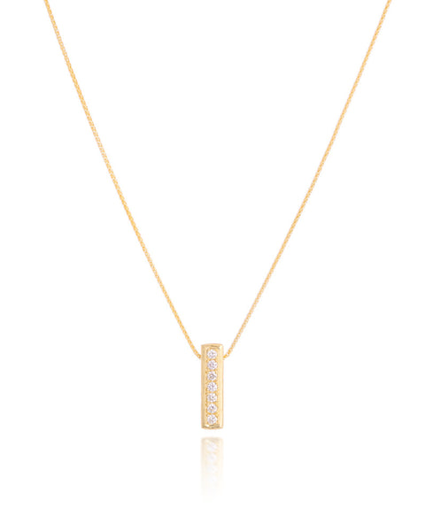 14ct Yellow Gold Diamond Pendant with Chain
