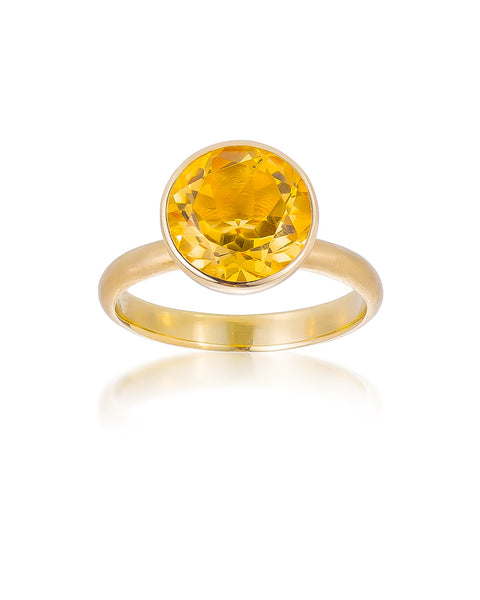14ct Yellow Gold Citrine Ring