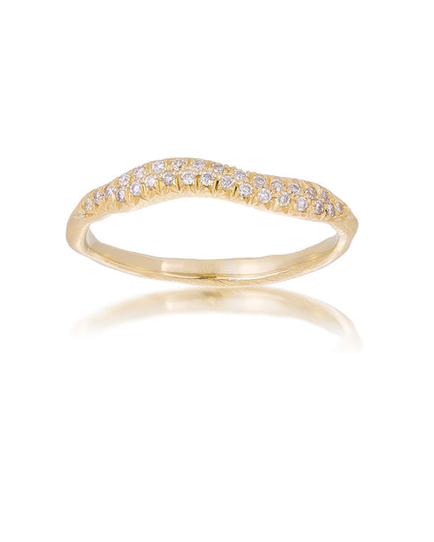 14ct Yellow Gold Diamond Pavé Ring