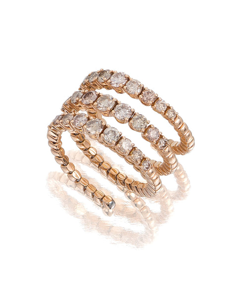 18ct Rose Gold Cognac Diamond Ring