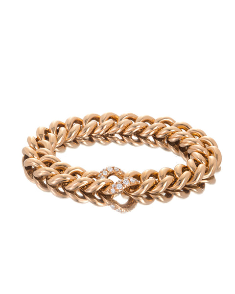 18ct Rose Gold Diamond Bracelet