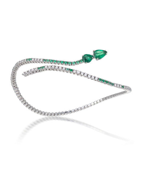 18ct Emerald & Diamond Bracelet