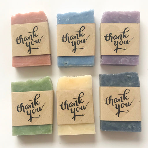 "Set of 10 ""Thank You"" Soap Favors"