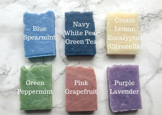 "Set of 10 ""From Our Shower To Yours"" Medium Sized Soap Favors"