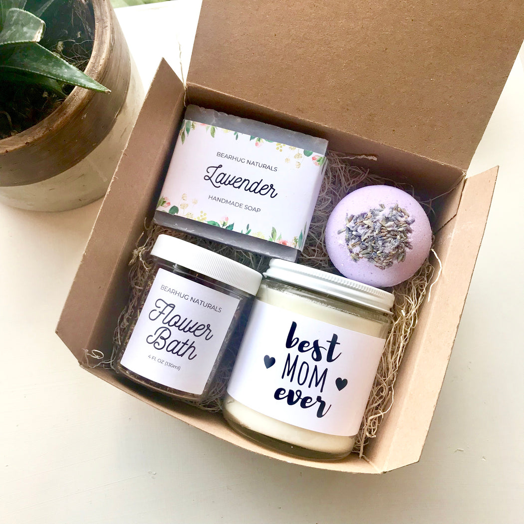 Mothers day gift box,  Unique Gift for mom, Personalized Spa Gift Box,  best mom ever Spa Set, New Mom Gift, Step-Mom, happy mothers day