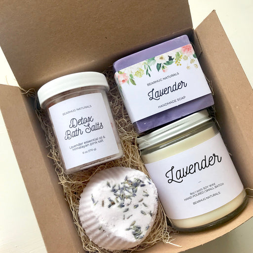 Lavender  Gift Box, Gifts for women, Birthday Gift, Girlfriend Gift, Self care kit, Gift for Wife, Mom Gift
