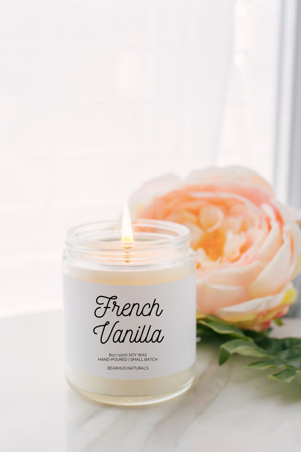 Spa Gift box for Best Friend,  French Vanilla  Candle Gift,  Girlfriend Gift, Best friend gift, Spa Gift Set, Soy Candle Gift Set
