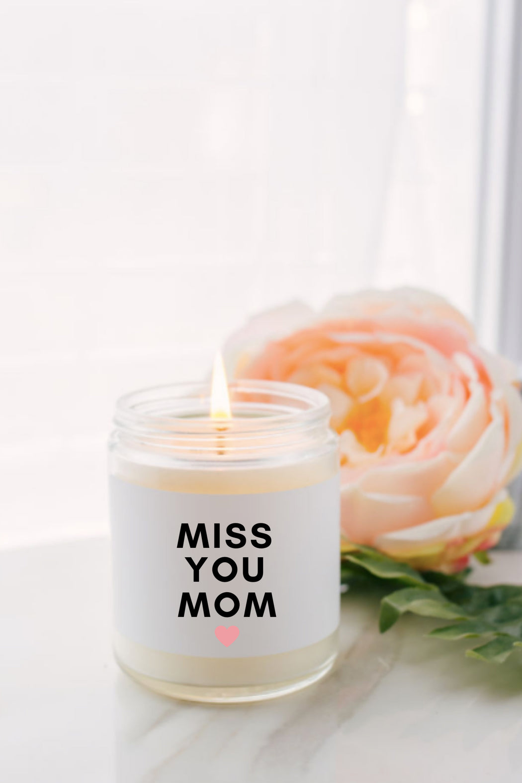 Miss You Mom Gift Box, Christmas Gifts for Mom,  New Mom Gift, Step Mom Gift, Spa Gift Set, Soy Candle Gift, Quarantine Gift.