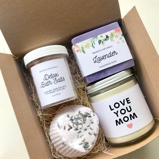 Love You Mom Gift Box, Christmas Gifts for Mom,  New Mom Gift, Step Mom Gift, Spa Gift Set, Soy Candle Gift, Quarantine Gift.