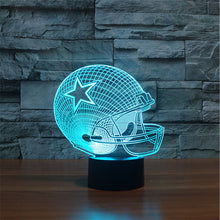 NFL 3D Touch LED Lamp 7 Colors - Dallas Cowboys