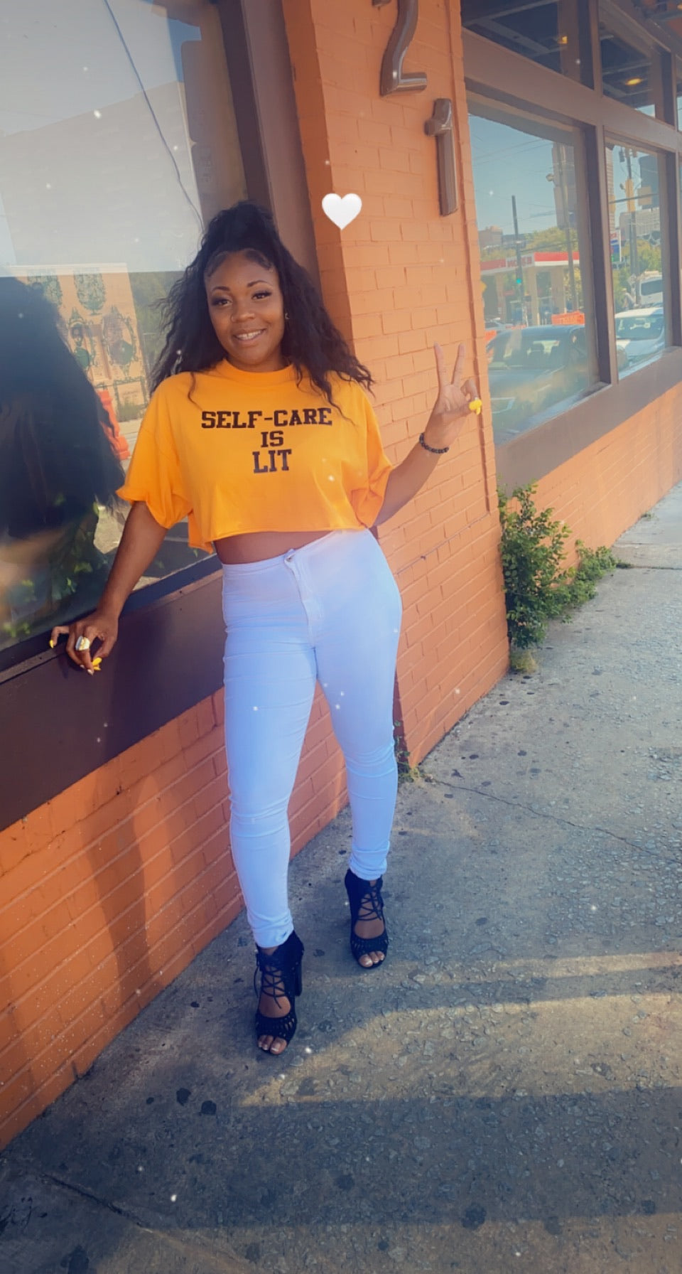 Self-Care Is Lit Crop Tee (Pre-Order)