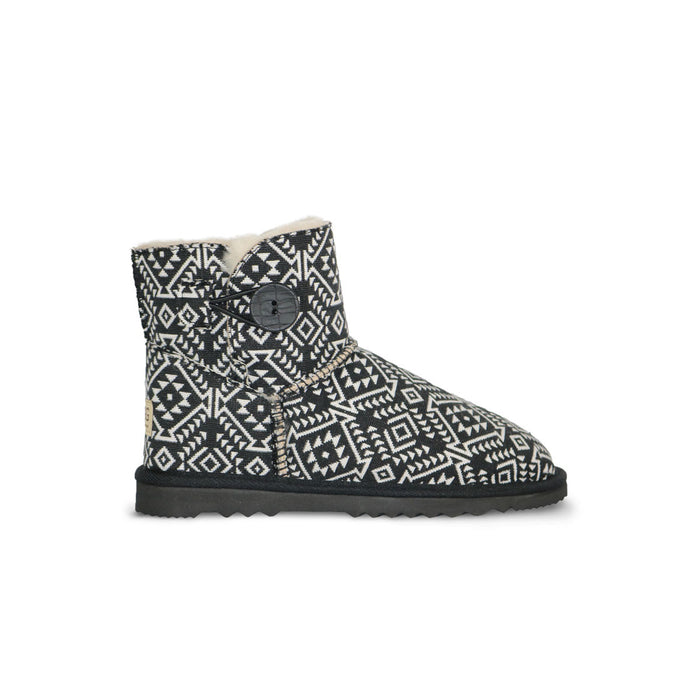 Aztec Moon Button Mini sheepskin ugg boot online sale by UGG Australian Made Since 1974 Side view