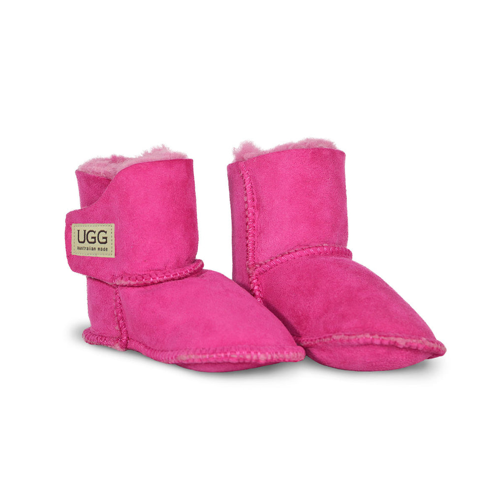 Baby Fuschia pink sheepskin ugg boot online sale by UGG Australian Made Since 1974 Front angle view pair