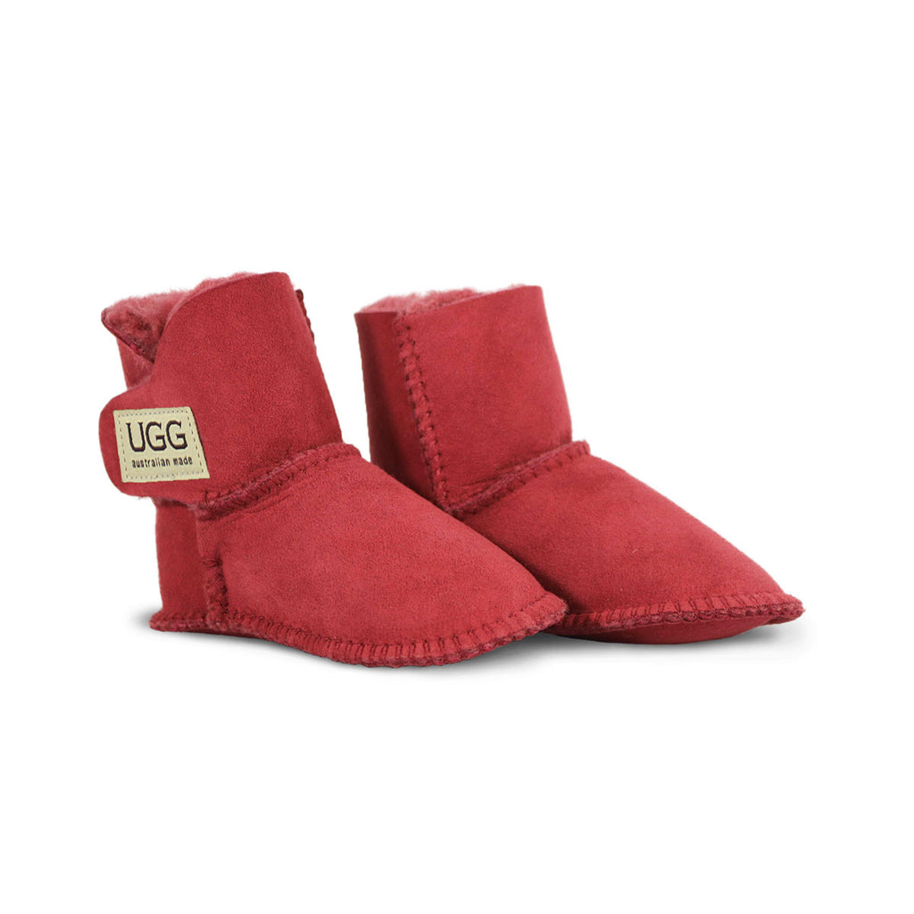 Baby Jester red sheepskin ugg boot online sale by UGG Australian Made Since 1974 Front angle view pair