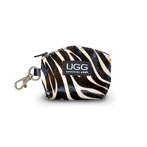 Coin Purse Zebra made from calfskin online sale by UGG Australian Made Since 1974 Front view