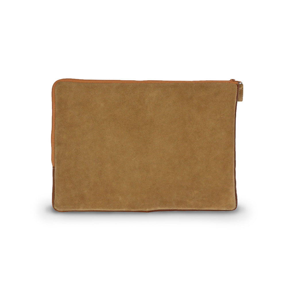 Laptop Chestnut Suede case online sale by UGG Australian Made Since 1974 Back view