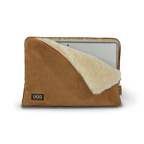 Laptop Chestnut Sheepskin case online sale by UGG Australian Made Since 1974 Front view