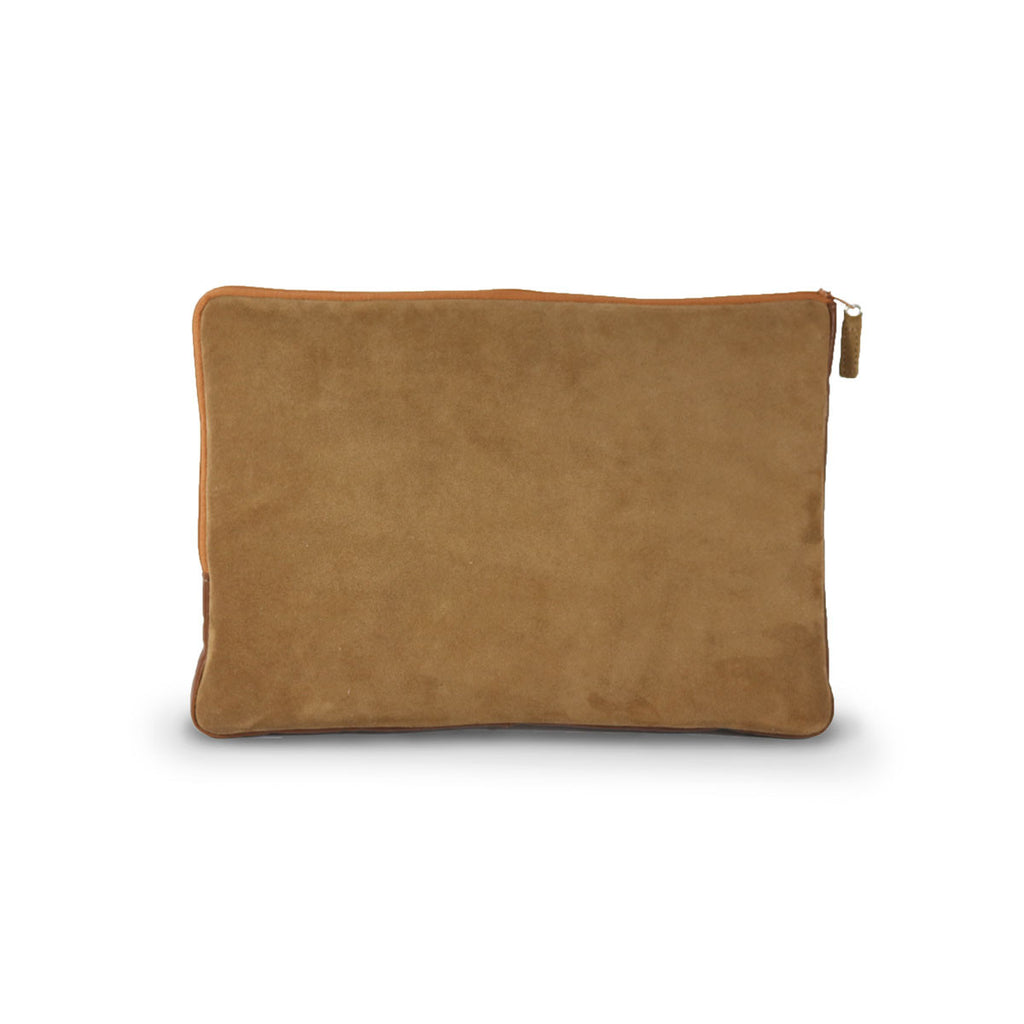 Laptop Chestnut Sheepskin case online sale by UGG Australian Made Since 1974 Back view