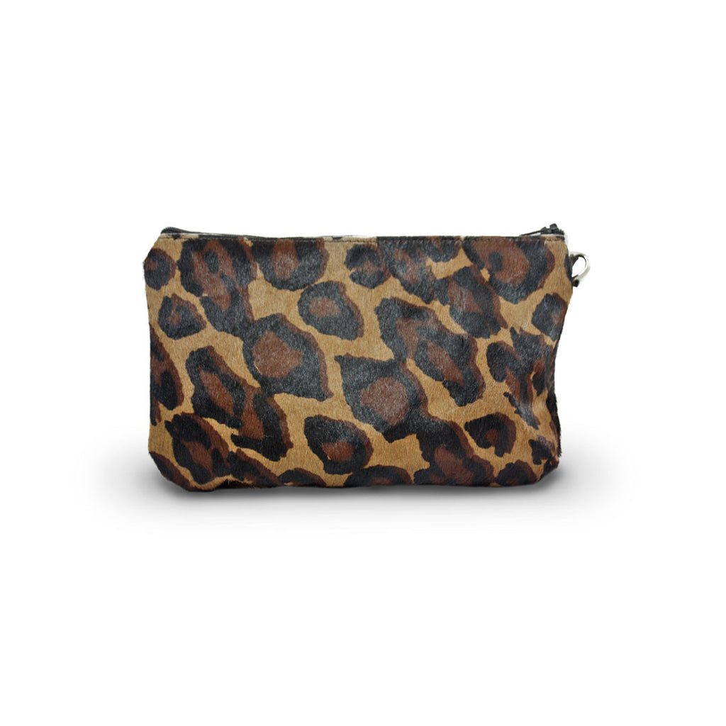 Leopard Clutch made from calfskin online sale by UGG Australian Made Since 1974 Back view