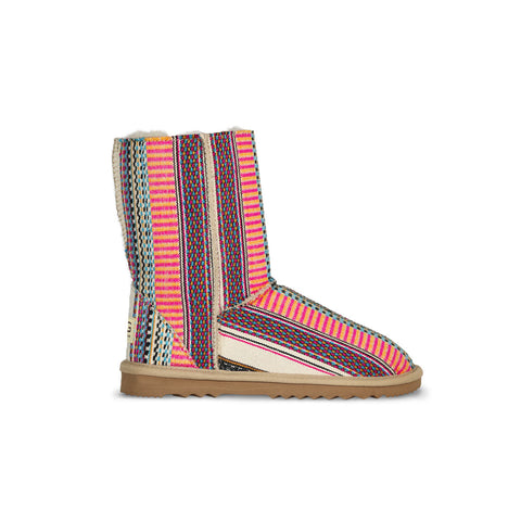 Classic Aztec Earth Mid sheepskin ugg boot online sale by UGG Australian Made Since 1974 Side view