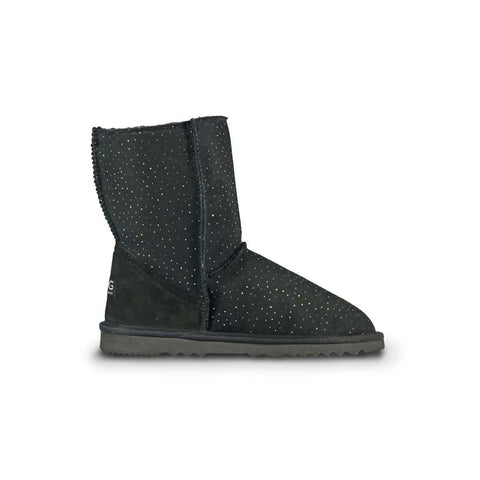 Classic Venus Mid Black sheepskin ugg boot online sale by UGG Australian Made Since 1974 Side view