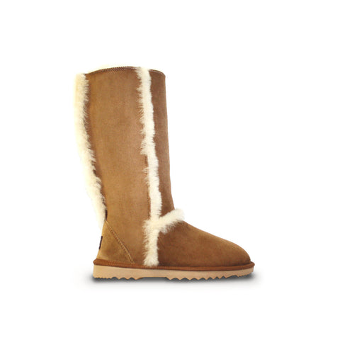 Classic Designer Chestnut Tall sheepskin ugg boot online sale by UGG Australian Made Since 1974 Side view