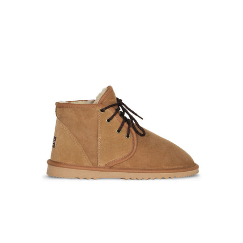 Dusty Mini Chestnut lace up sheepskin ugg boot sale by UGG Australian Made Since 1974 Side view