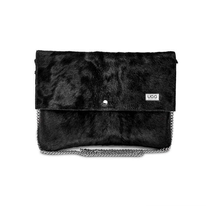 Sahara Clutch Black Calf