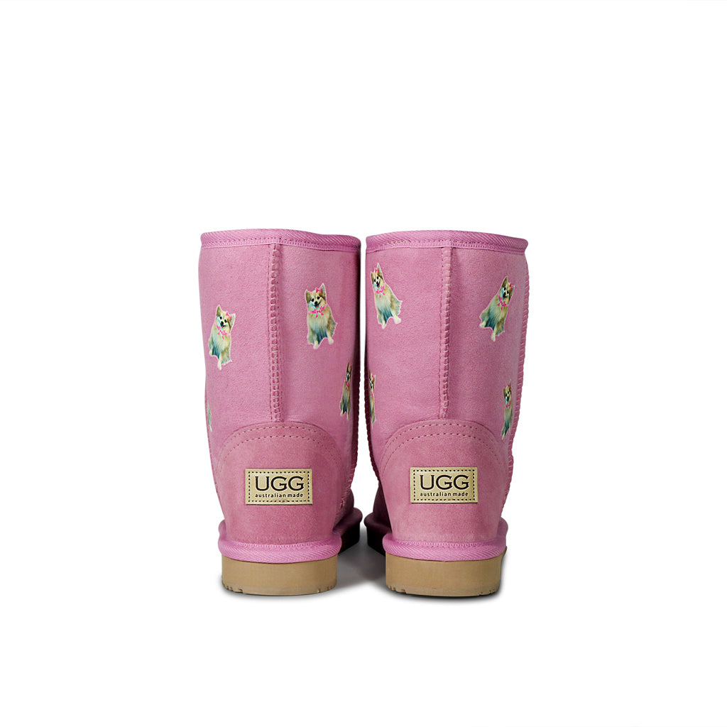 Custom Mid Pet Printed UGG Boots