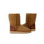 Classic Mid Monogram Sheepskin UGG Boots in Natural