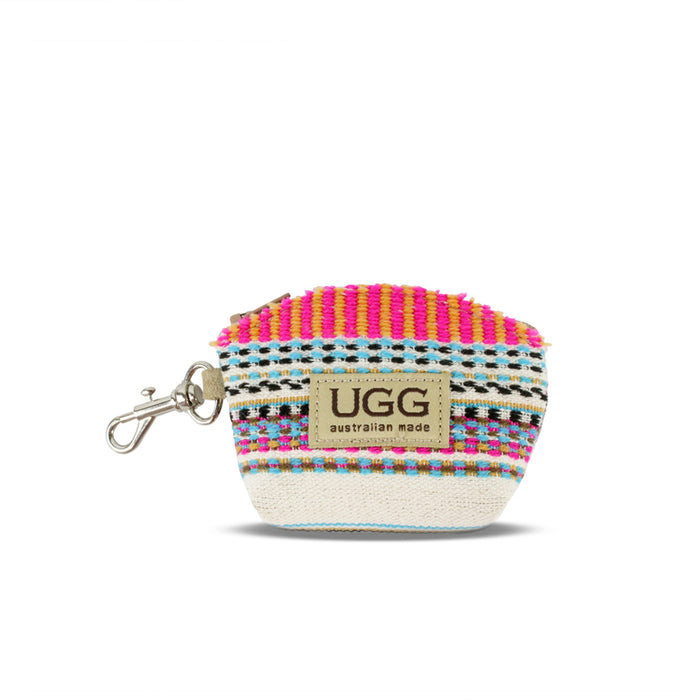 Aztec White Coin Purse
