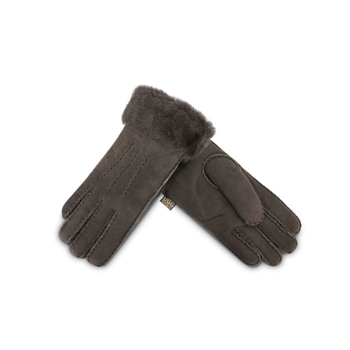 Chocolate Sheepskin Gloves