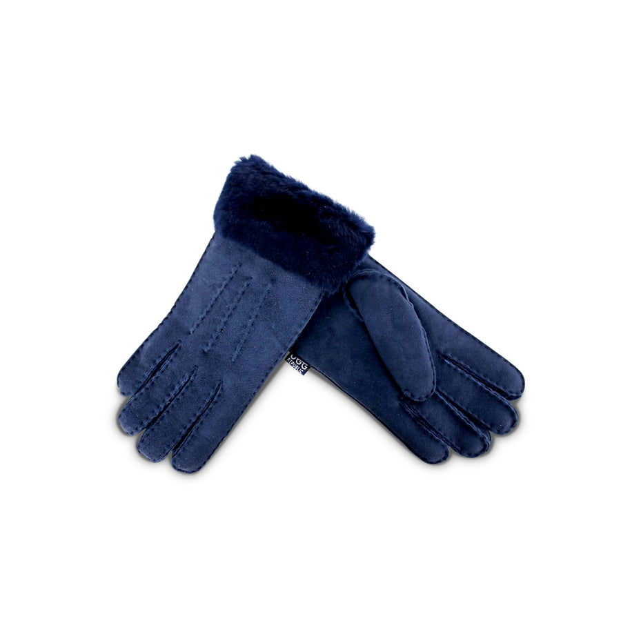 Navy Sheepskin Gloves